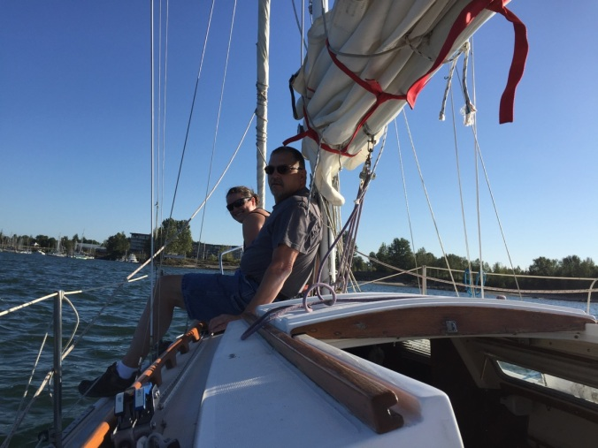 Catalina 25 sailboat | Mosaic Voyage | Family preparing to go cruising on a sailboat