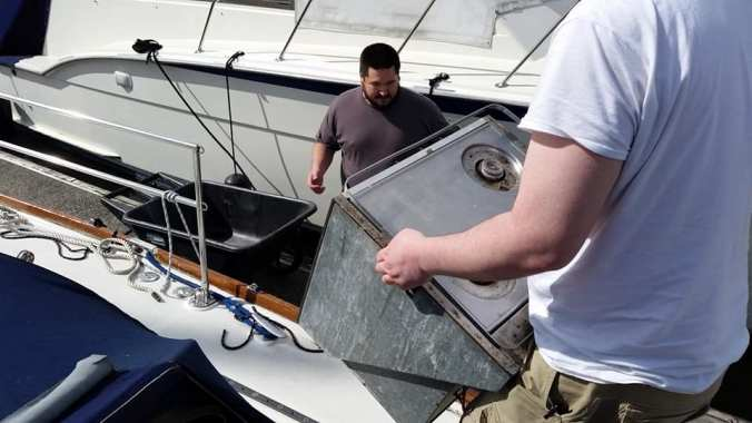 Sailing Family Preparing to Cruise - Mosaic Voyage - Force Ten Stove Install
