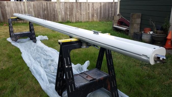 sailboat boom paint job