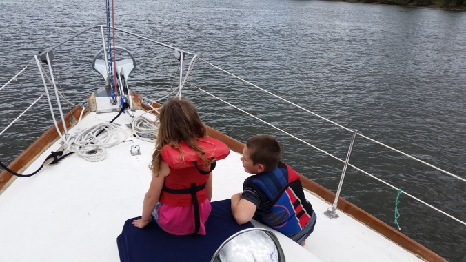 Kids on the Sailboat