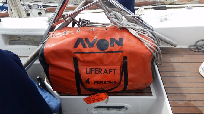 Instead of using this old liferaft that we have which came with our boat, we're renting an offshore liferaft for our ocean passage this May