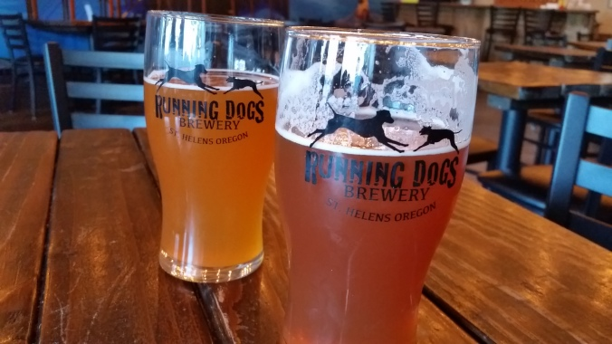 Running Dogs Brewery in St. Helens Oregon- a short walk from the St. Helens Public Dock
