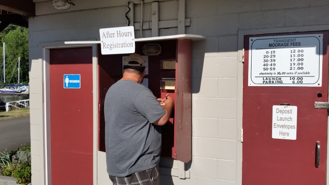 Elochoman Marina in Cathlamet after-hours pay station