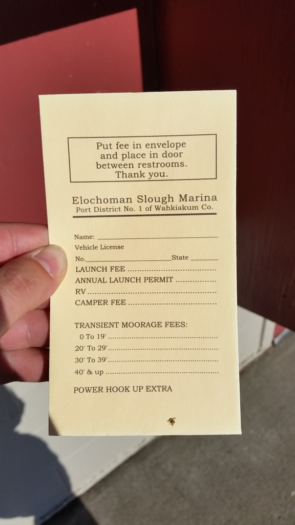 Elochoman Marina in Cathlamet after-hours pay envelope