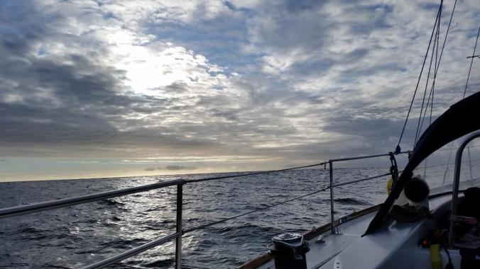 Pictures from our passage north on our 40-foot sailboat