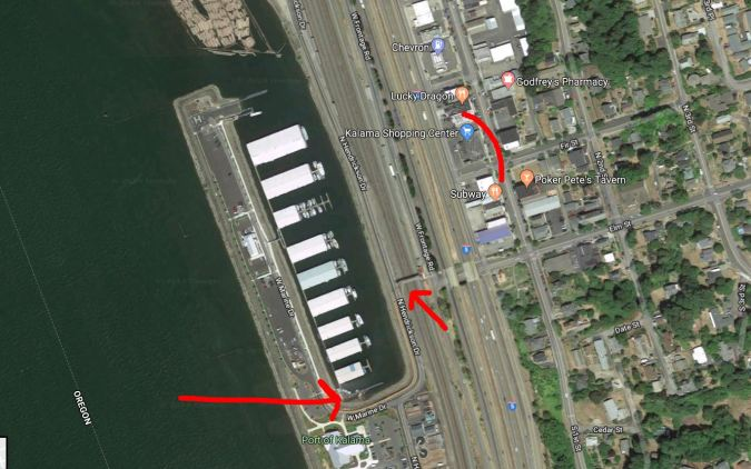 Aerial View of the Port of Kalama Guest Dock