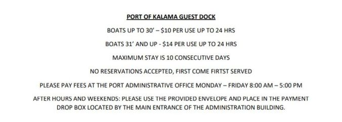 Port of Kalama Guest Dock Information