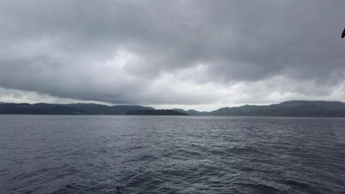 Neah Bay from our sailboat entering the strait of juan de fuca