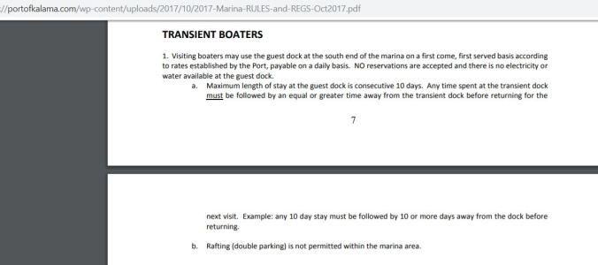 Port of Kalama Transient Boater Info