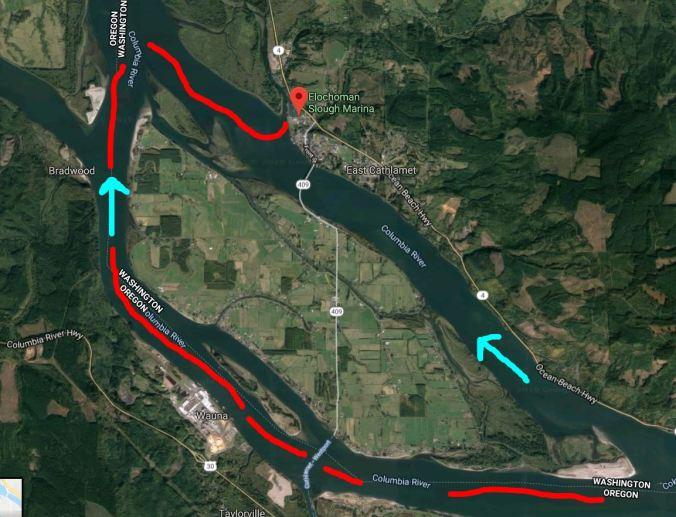 River route to Elochoman Marina in Cathlamet