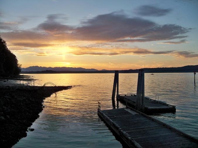 Sunset Blake Island Marine State Park