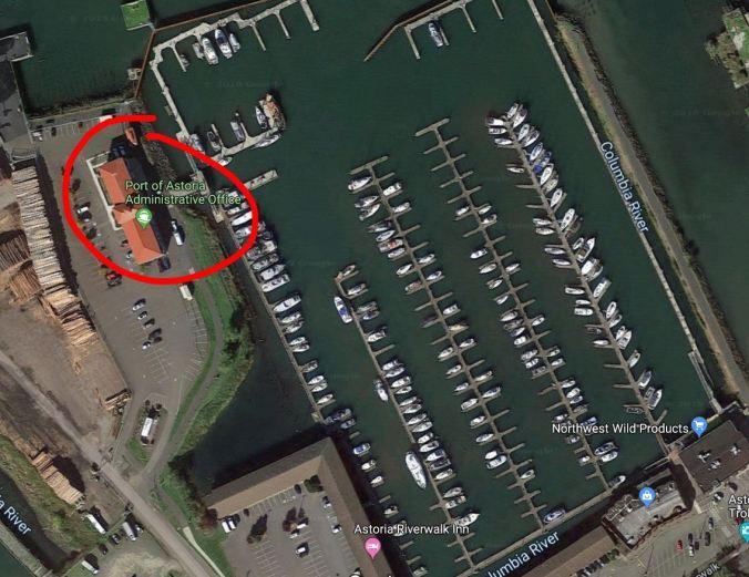Astoria marina and marina office building