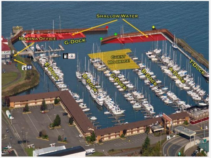 Map of Port of Astoria - West Basin marina
