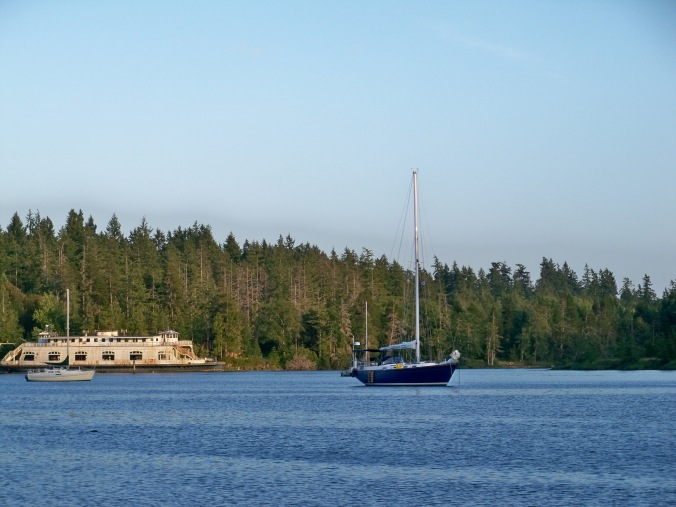 Mosaic anchored in Oro Bay on Anderson Island - Anchorage Cruiser's Review