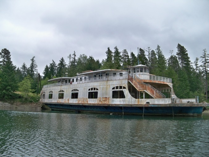 Dilapidated Ferry Boat inside Oro Bay