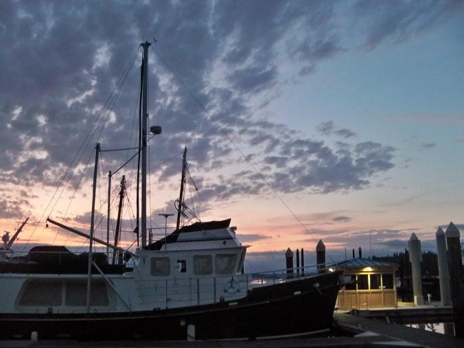 Beautiful Sunset in Olympia's Swantown Marina