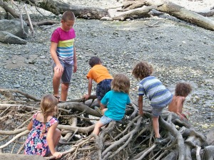 Boat Kid Fun at Penrose Point State Park - August 2019