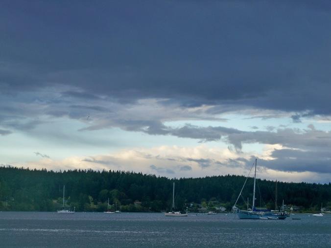 SV Windfall at anchor in Fisherman Bay