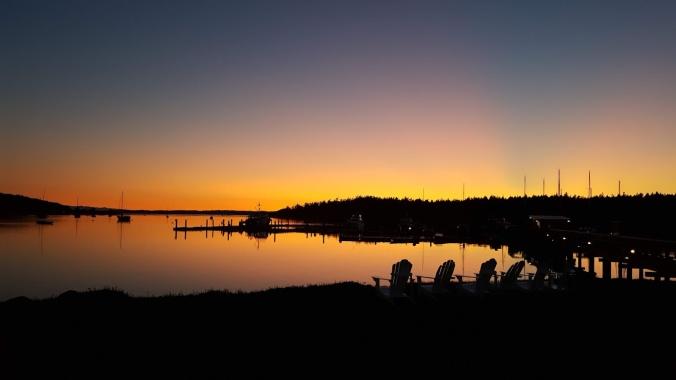 Sunset at the Lopez Islander Resort in Fisherman Bay September 2019