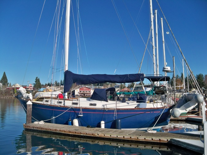 Mosaic settled in for winter moorage at the Port of Poulsbo