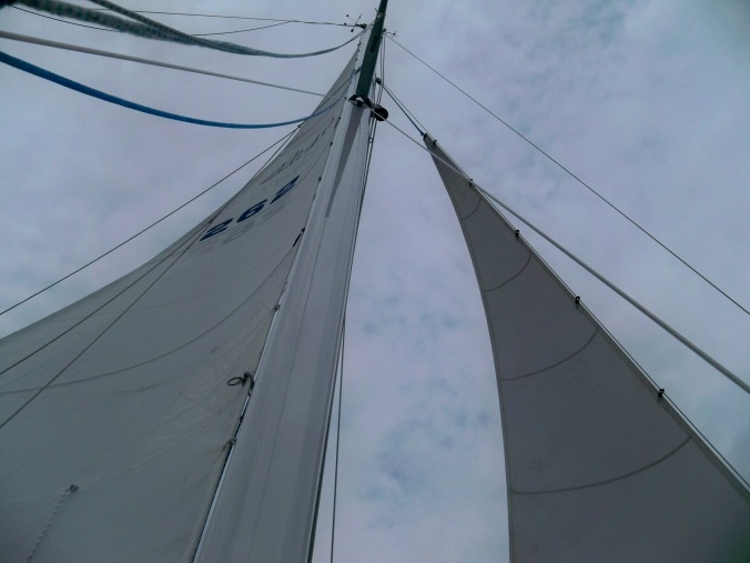 Mosaic sailing from Stuart Island to Sucia Island in the San Juans